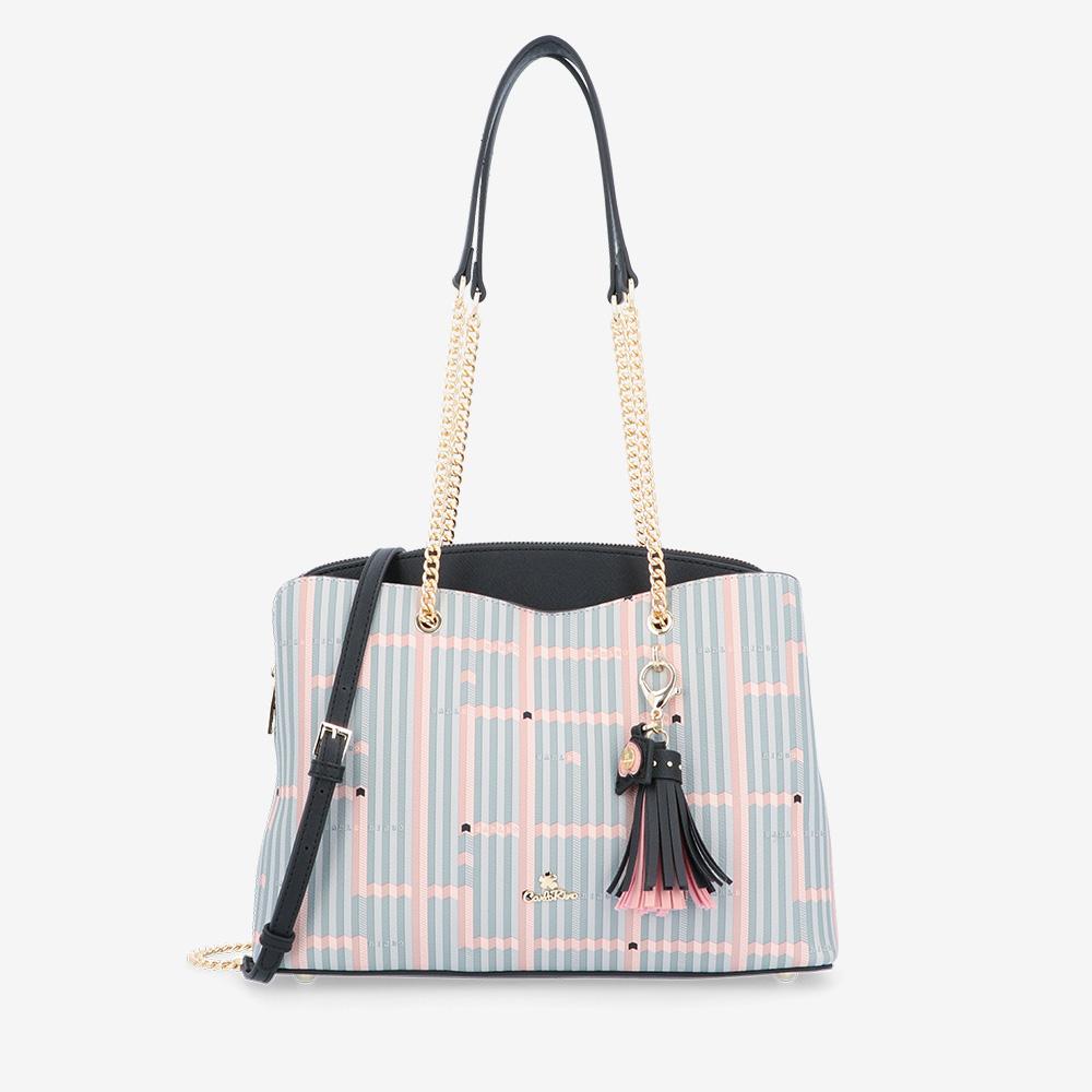 Miss Snowball Chain Link Shoulder Bag