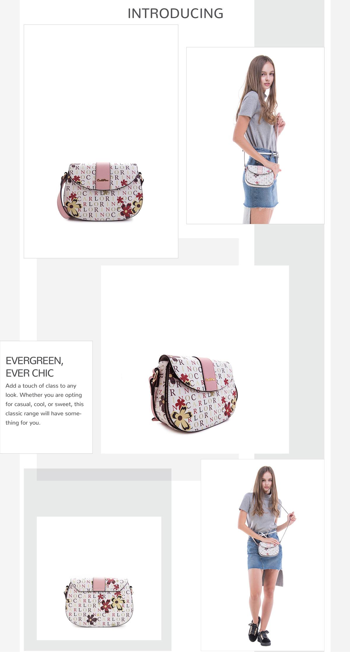 0304617D 001 24 - Signature Print Saddle Bag