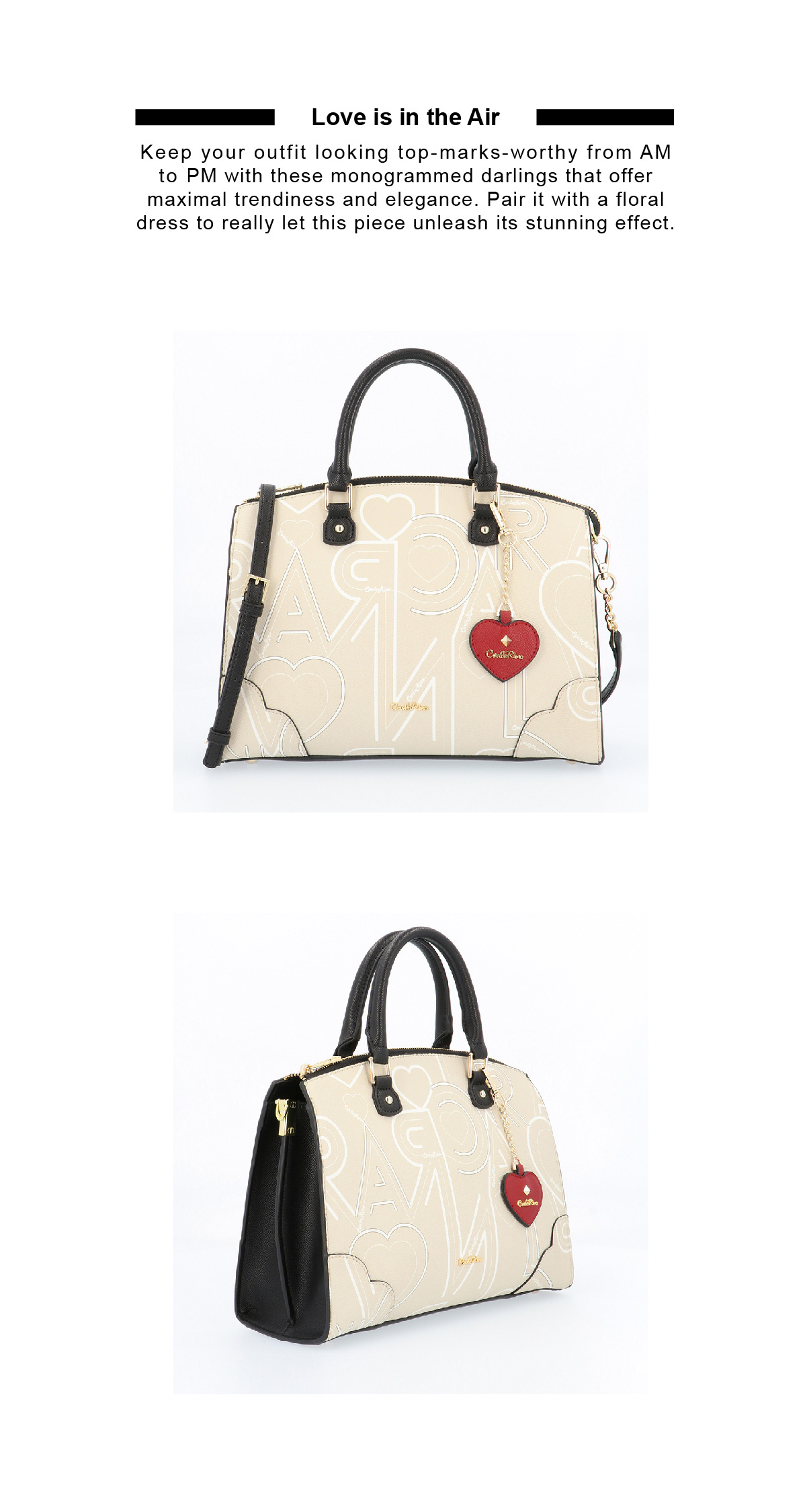 0304807G 006 21 02 - Love is in the Air Top Handle Tote
