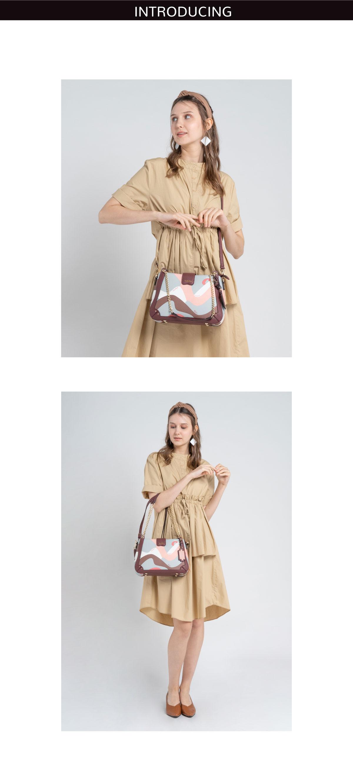 0304819G 004 14 01 - Posh in Pink Chain Link Shoulder Bag
