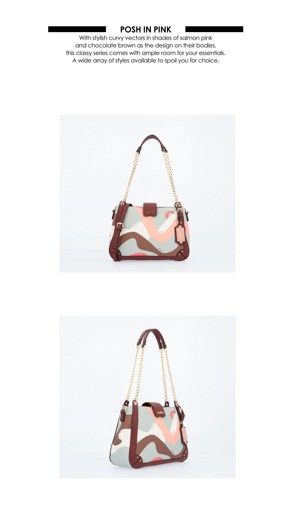 0304819G 004 14 02 - Posh in Pink Chain Link Shoulder Bag
