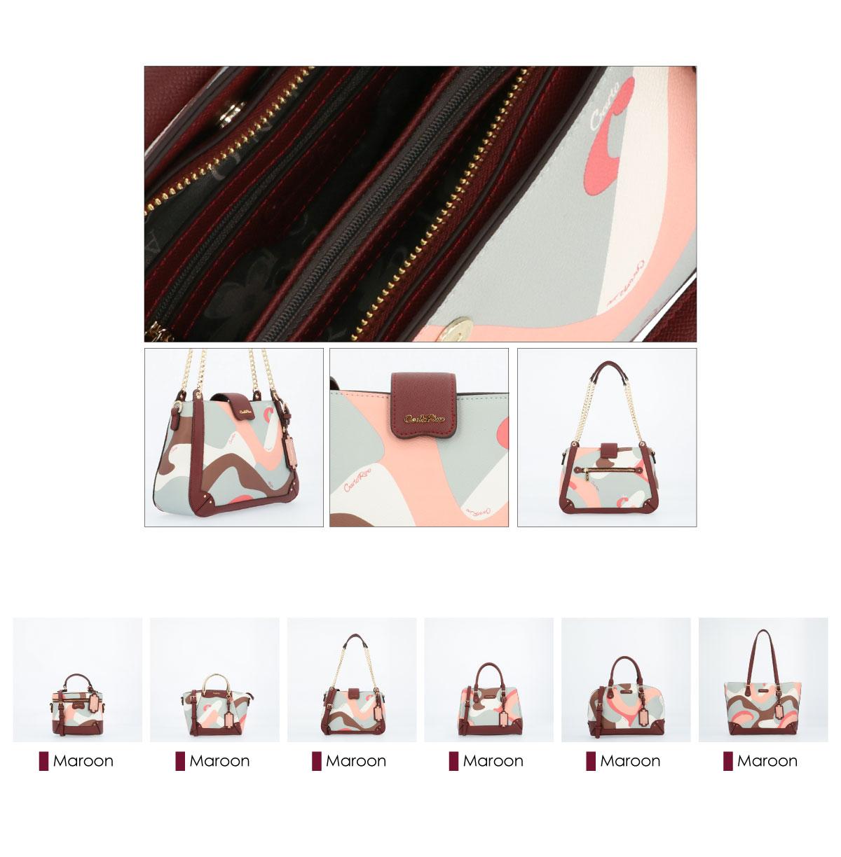 0304819G 004 14 03 - Posh in Pink Chain Link Shoulder Bag