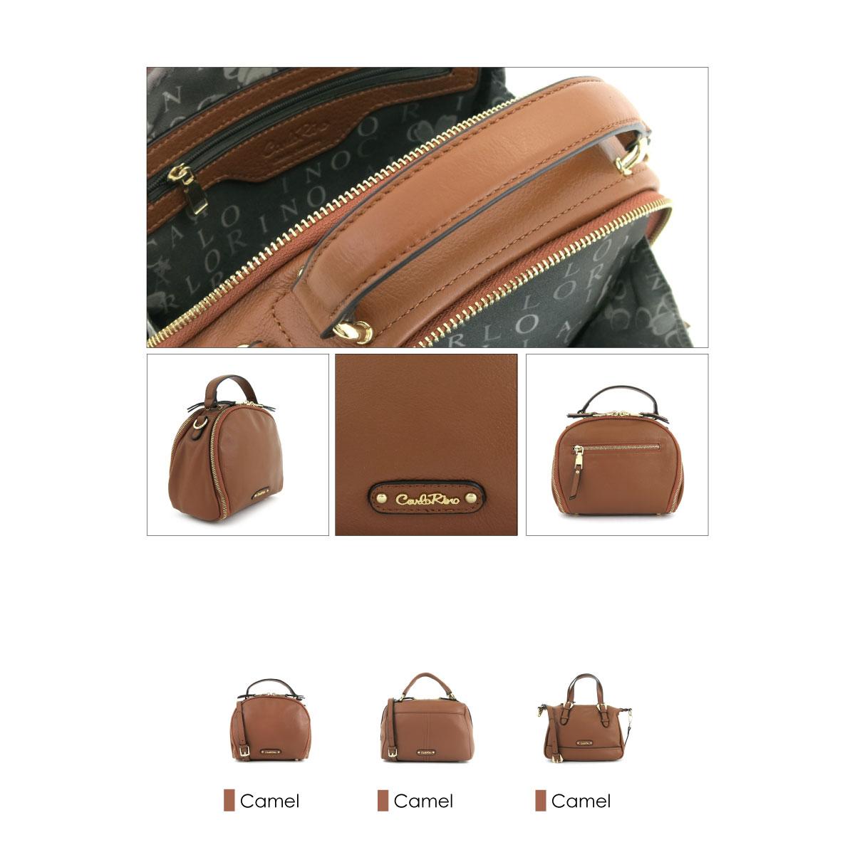 0304875F 001 35 03 - Leather Bash Round Zip-around Cross Body