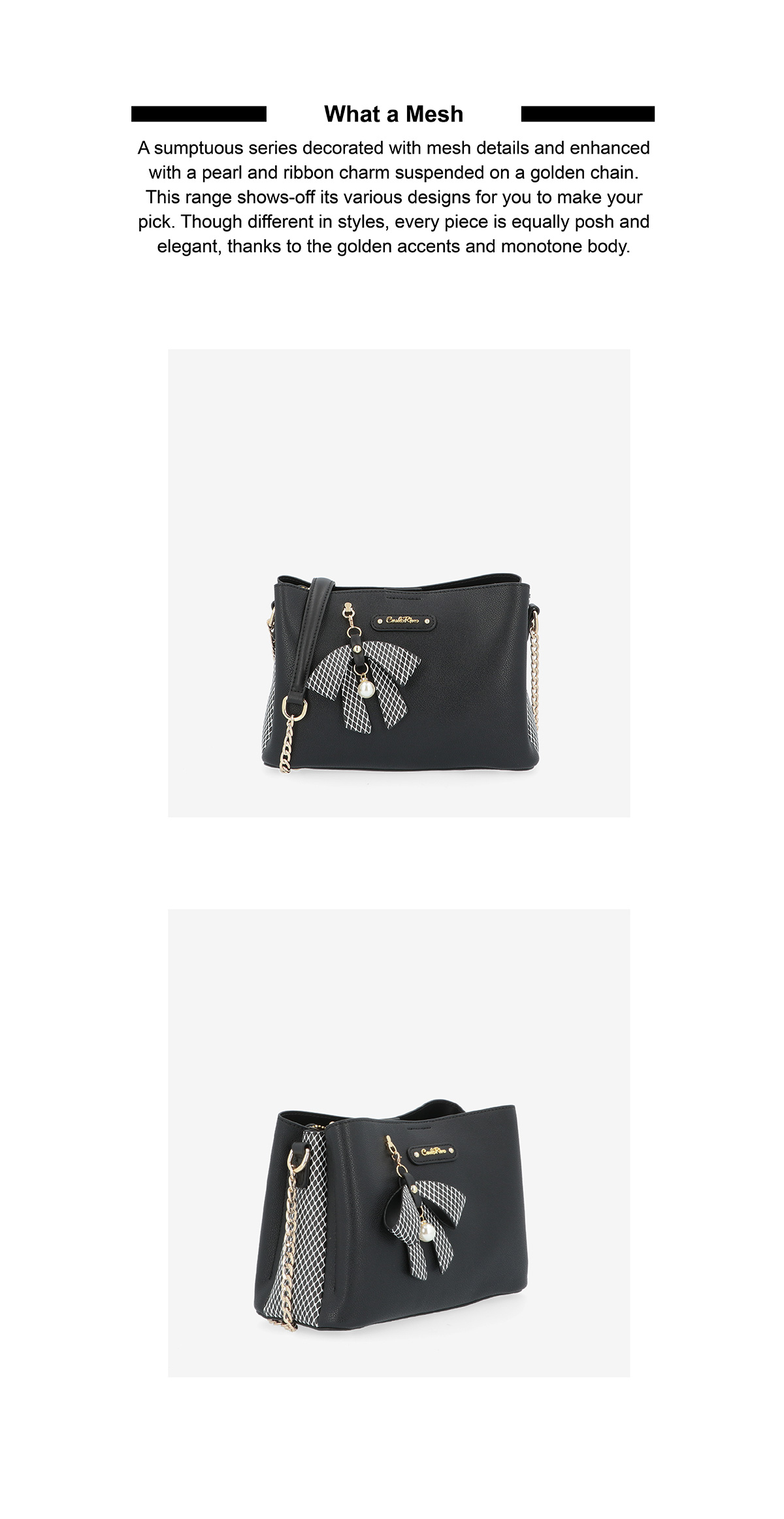 0304924G 001 08 02 - What a Mesh Chain Link Cross Body