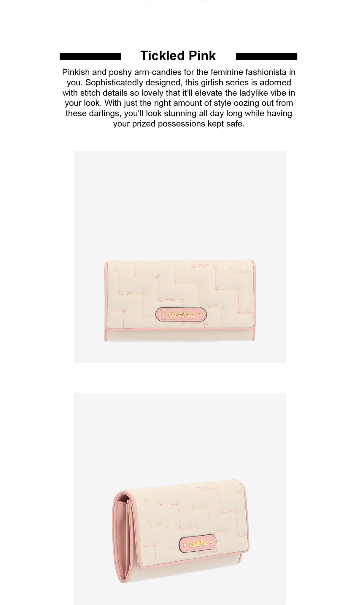 0304944G 501 02 - Tickled Pink Cushy Zip-around Wallet