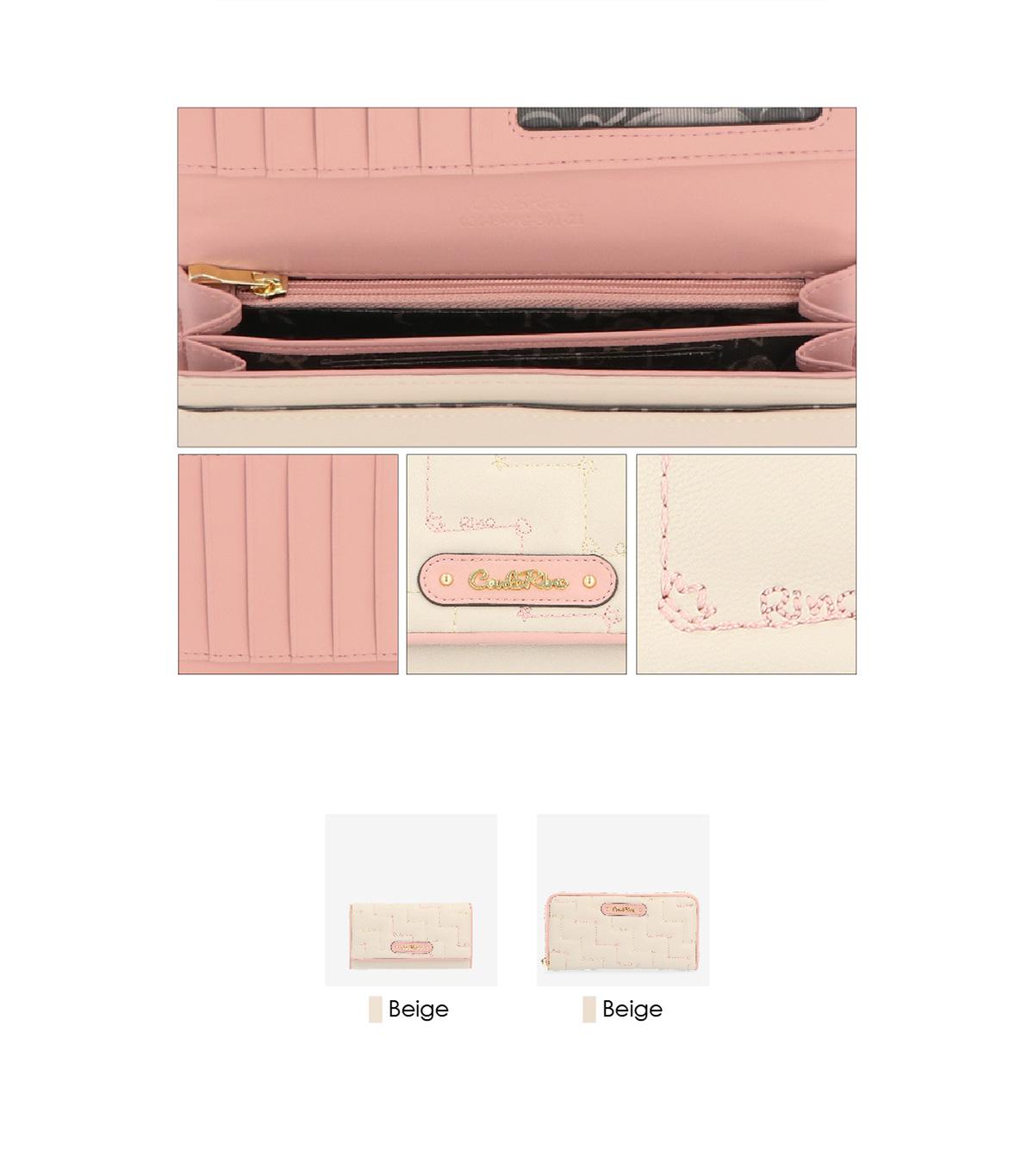 0304944G 501 03 - Tickled Pink Cushy Zip-around Wallet