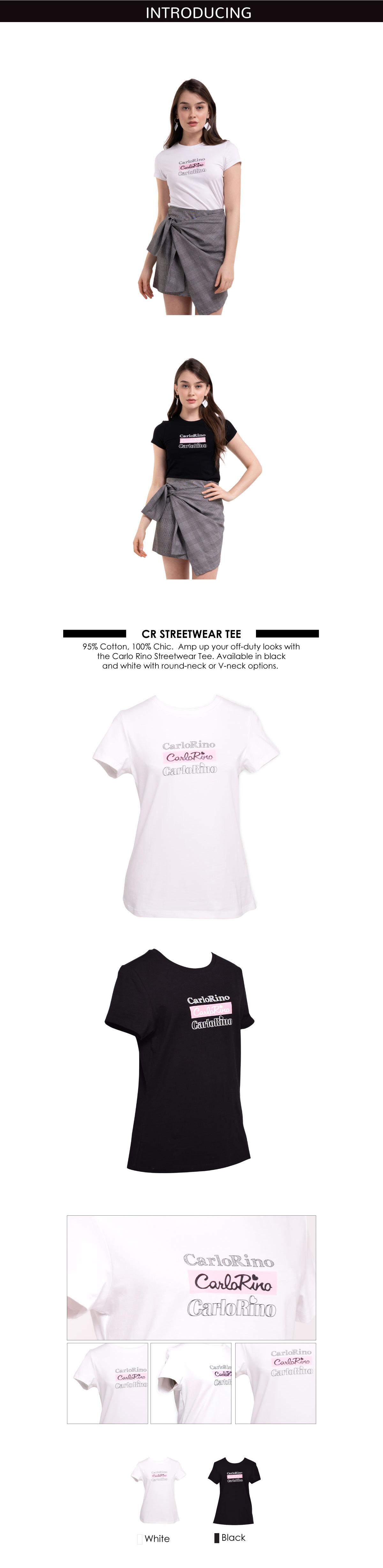 31T001 F002 - Round-neck CR Print Tee