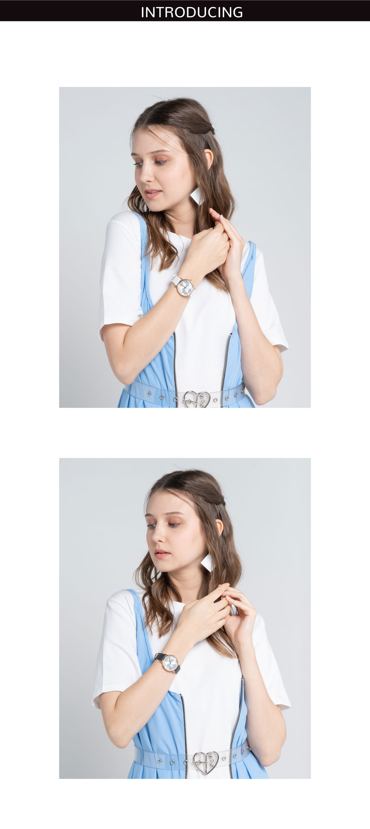 A93301 G003 01 - Women Printed Glitter Leather Strap