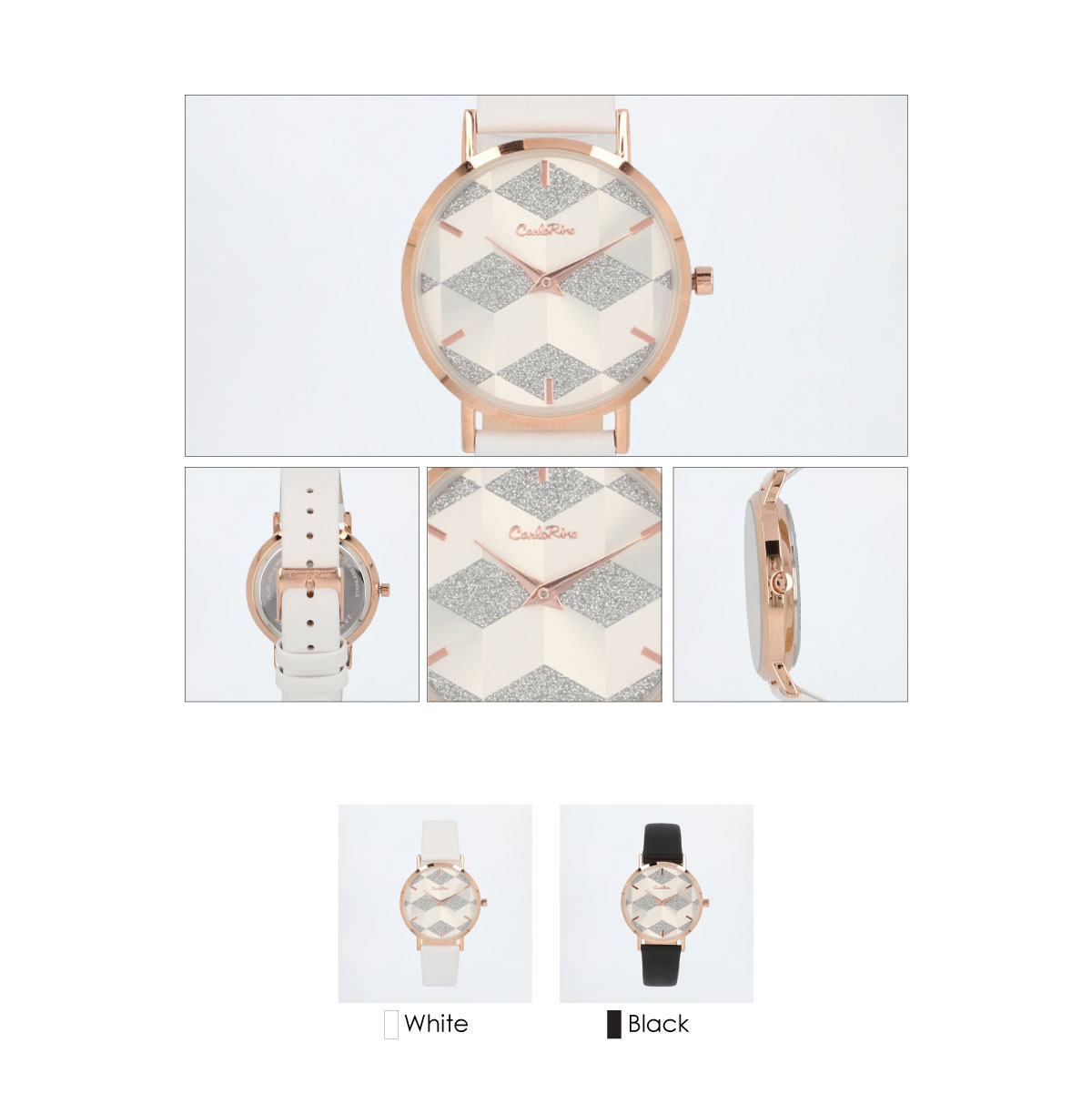 A93301 G003 03 - Women Printed Glitter Leather Strap