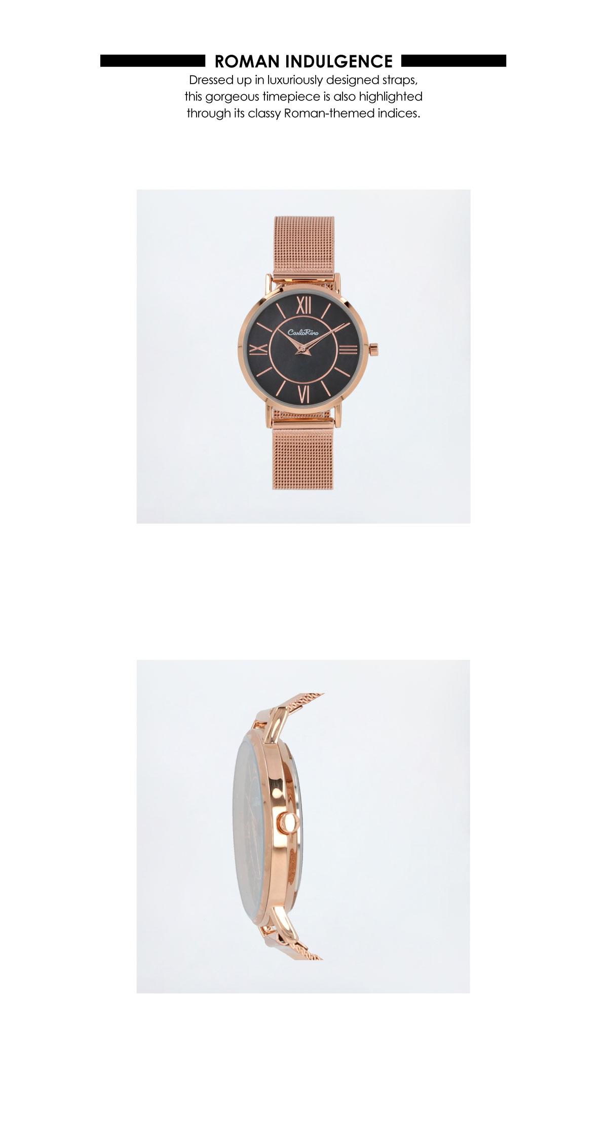 A93301 G007 32 02 - Roman Indulgence Mesh Band Timepiece
