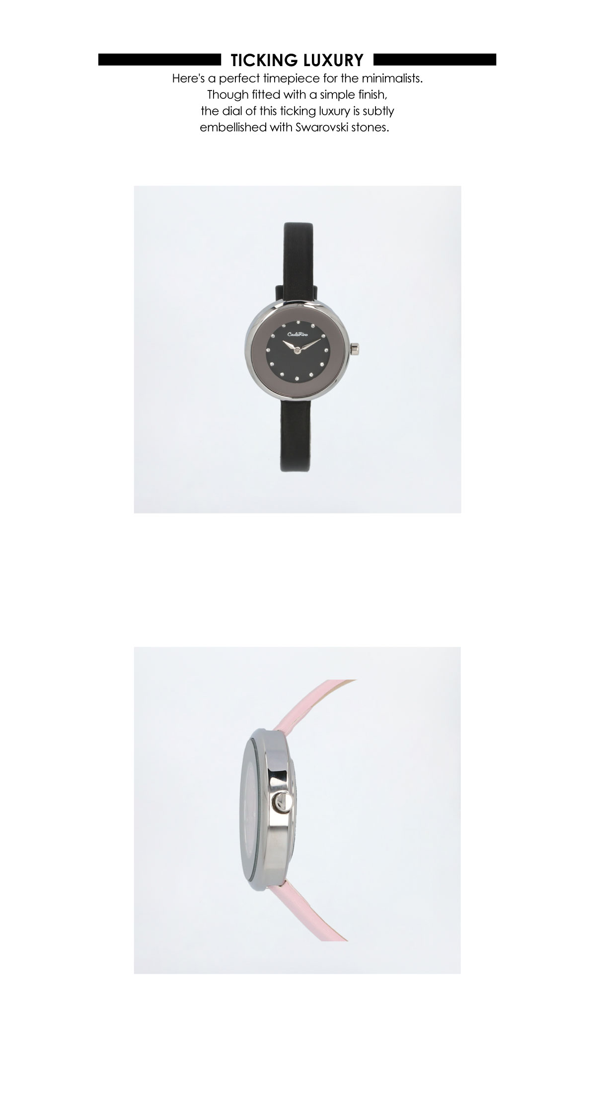 A93301 G012 08 02 - Ticking Luxury Satin Strap Timepiece