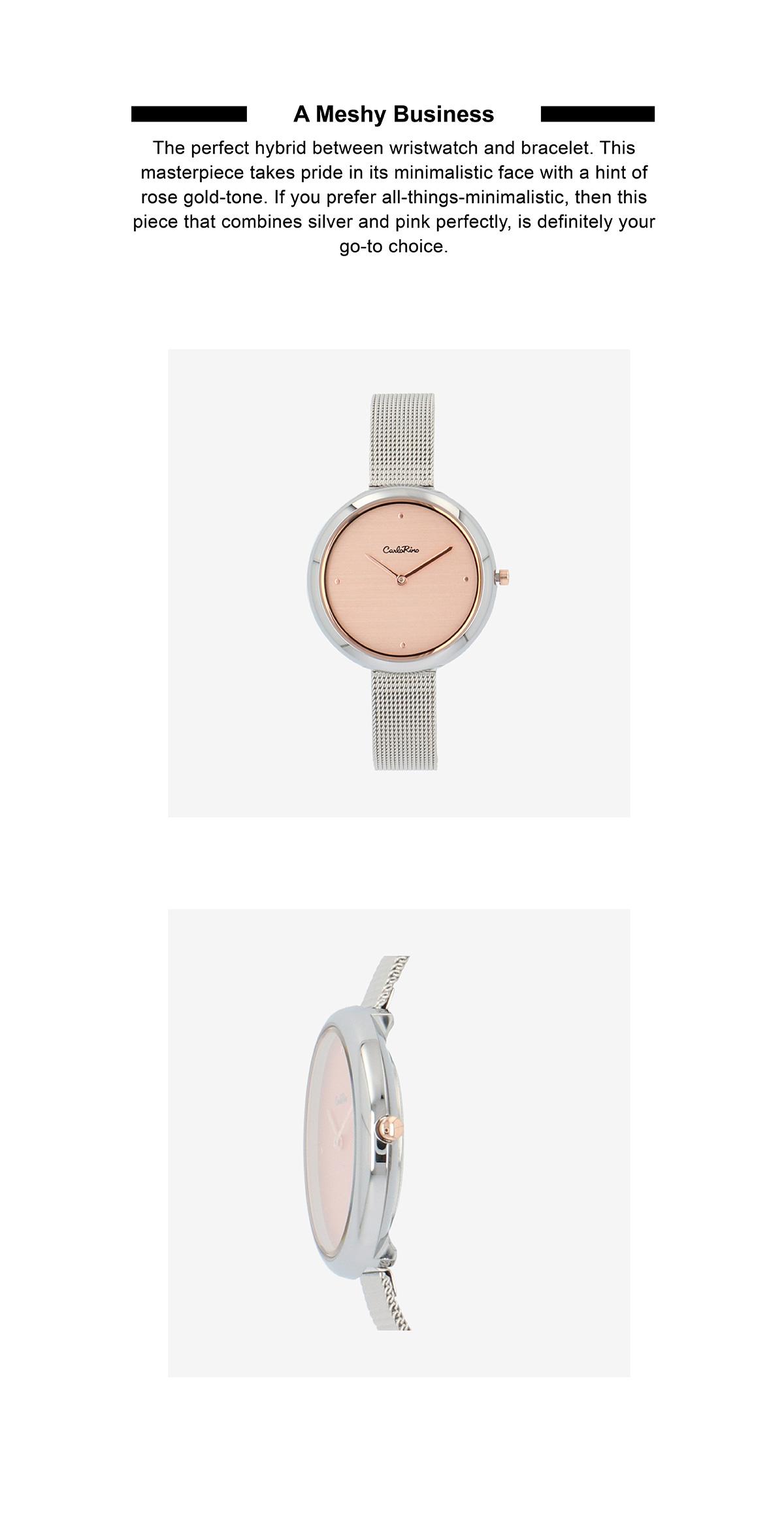 A93301 G019 12 02 - A Meshy Business Mesh Band Timepiece