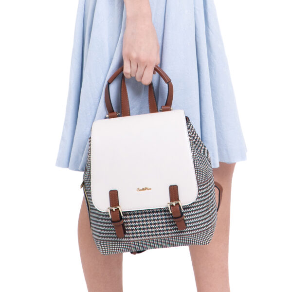 0304488C 004 21 600x600 - Oxford Houndstooth Print Backpack