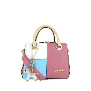 carlorino bag 0303785 001 00 1 300x300 - Large Colour-block Monogrammed Top Handle