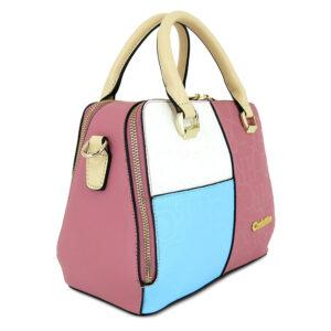 carlorino bag 0303785 001 00 3 300x300 - Large Colour-block Monogrammed Top Handle