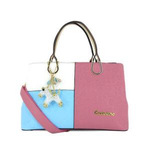 carlorino bag 0303785 002 00 1 300x300 - Large Colour-block Monogrammed Top Handle