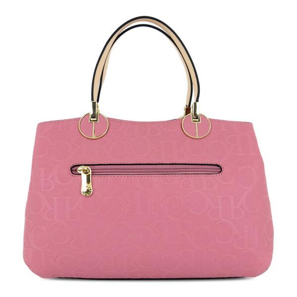 carlorino bag 0303785 003 00 2 - Large Colour-block Monogrammed Top Handle