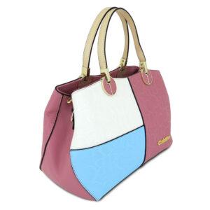 carlorino bag 0303785 003 00 3 - Large Colour-block Monogrammed Top Handle