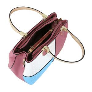 carlorino bag 0303785 003 00 4 - Large Colour-block Monogrammed Top Handle