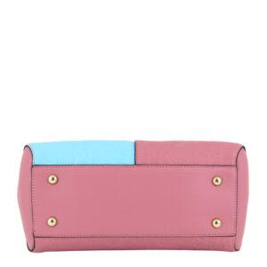 carlorino bag 0303785 003 00 5 - Large Colour-block Monogrammed Top Handle