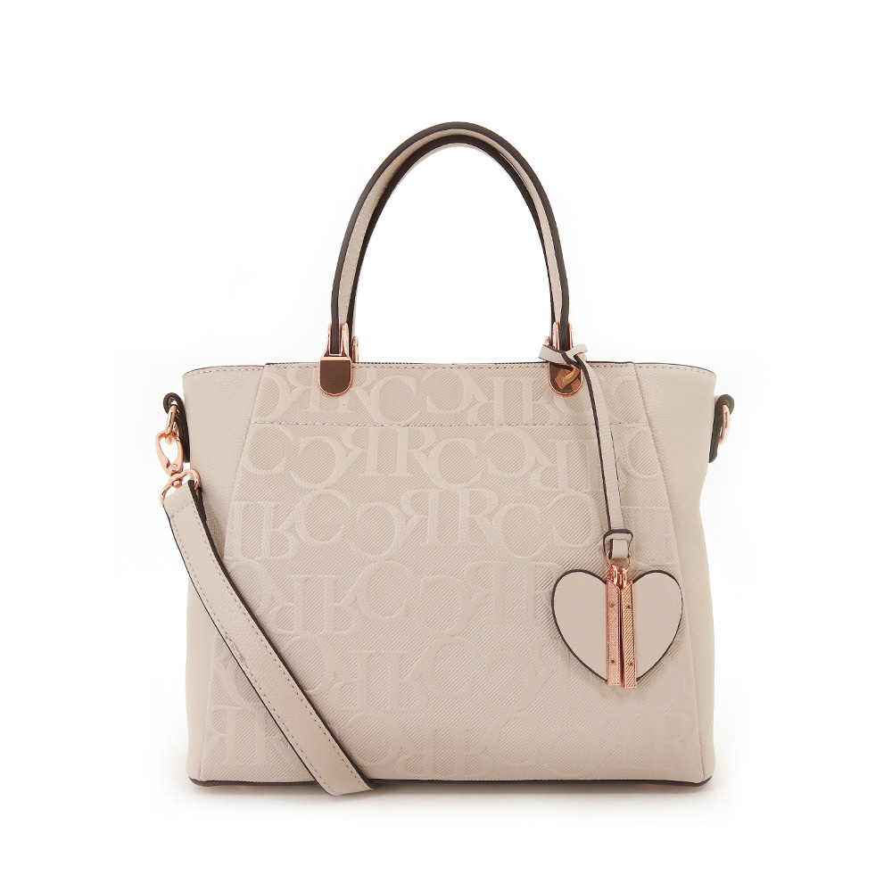 carlorino bag 0304241A 002 21 1 - Upsized First Love Monogrammed Top Handle
