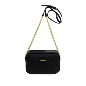 carlorino bag 0304323A 001 08 1 300x300 - Black In Love with Quilt Chain Link Zip wallet