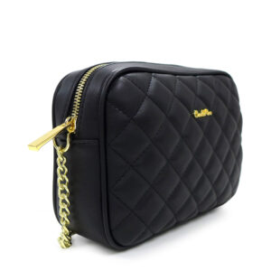 carlorino bag 0304323A 001 08 3 300x300 - Black In Love with Quilt Chain Link Zip wallet