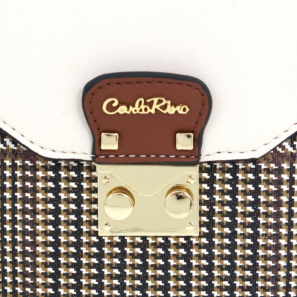 carlorino bag 0304488C 001 21 5 - Oxford Houndstooth Print Cross Body