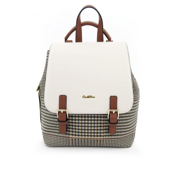 carlorino bag 0304488C 004 21 1 600x600 - Oxford Houndstooth Print Backpack