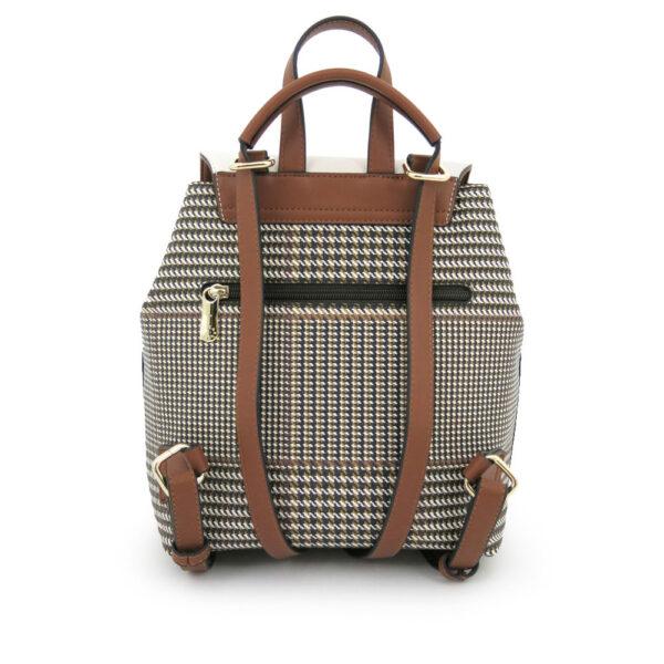 carlorino bag 0304488C 004 21 2 600x600 - Oxford Houndstooth Print Backpack
