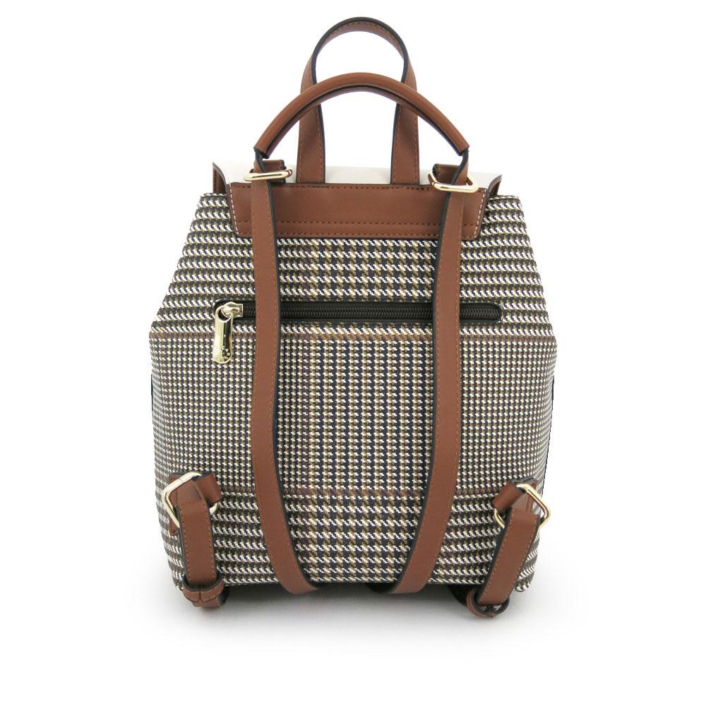 carlorino bag 0304488C 004 21 2 - Oxford Houndstooth Print Backpack