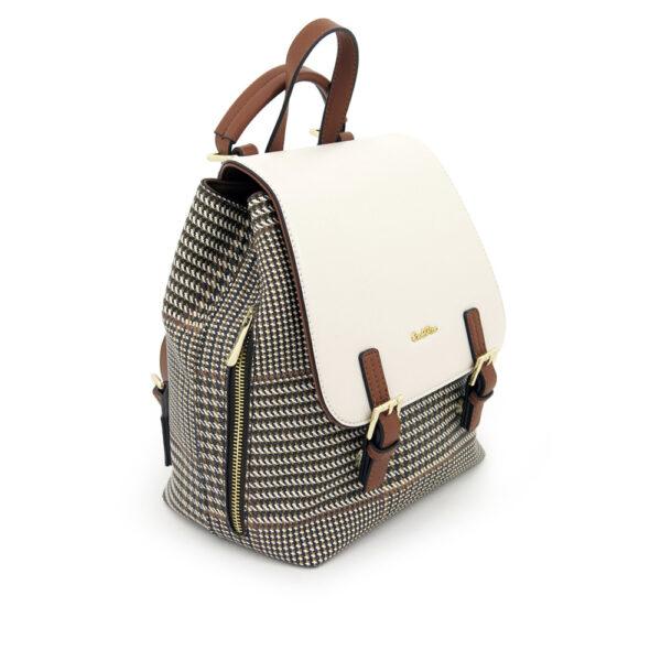 carlorino bag 0304488C 004 21 3 600x600 - Oxford Houndstooth Print Backpack