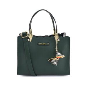 carlorino bag 0304499C 001 16 1 300x300 - Houndstooth Printed Sides Top Handle