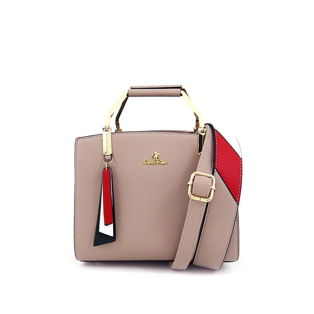 carlorino bag 0304582E 001 42 1 - Taupe Petite Corporate Queen Top Handle