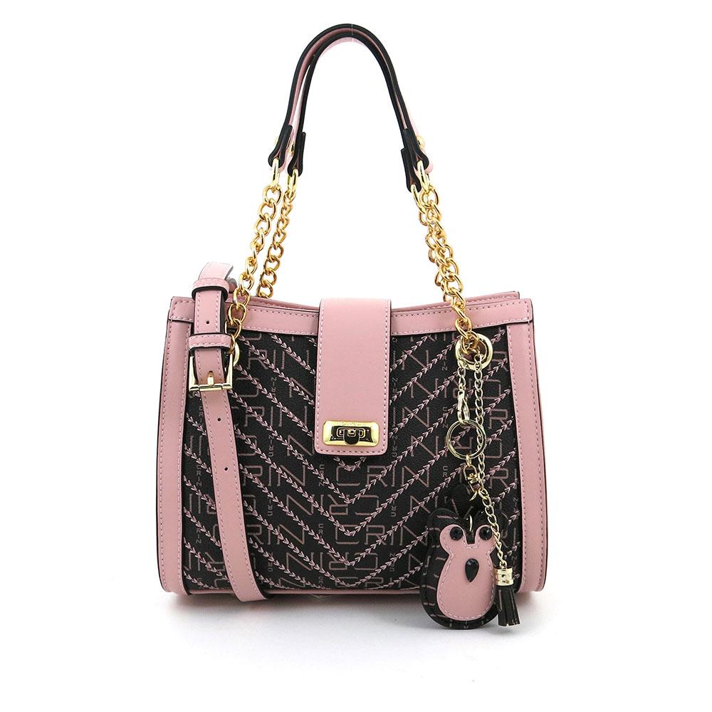 carlorino bag 0304600E 004 34 1 - Woo-Hoot Golden Chain Shoulder Bag