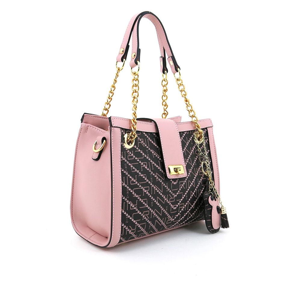 carlorino bag 0304600E 004 34 3 - Woo-Hoot Golden Chain Shoulder Bag