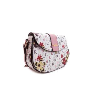 carlorino bag 0304617D 001 24 3 - Signature Print Saddle Bag