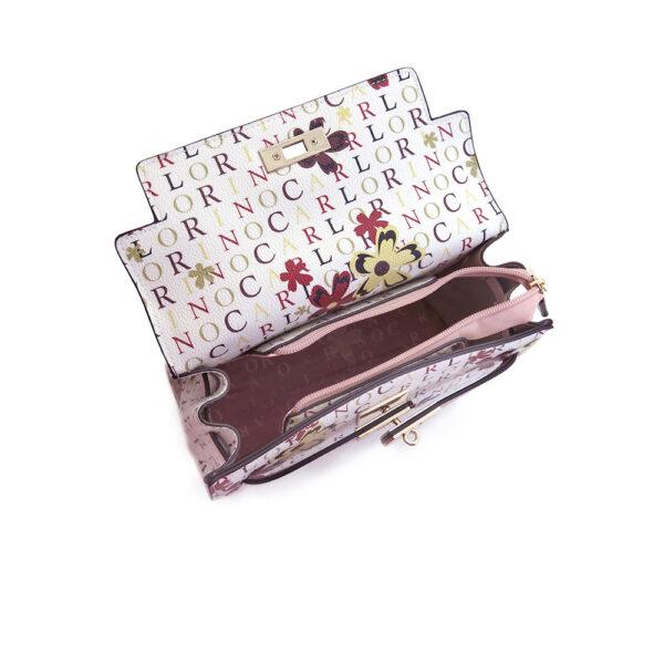 carlorino bag 0304617D 004 24 4 600x600 - Signature Print Strapped-flap Top Handle