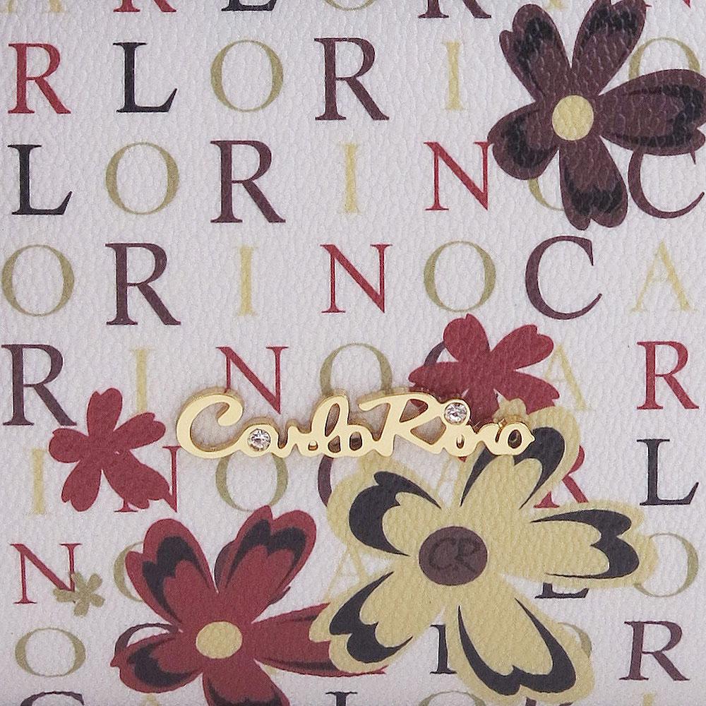 carlorino bag 0304617D 004 24 5 - Signature Print Strapped-flap Top Handle