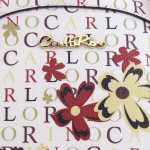 carlorino bag 0304617D 005 24 5 - Round Top Signature Print Top Handle