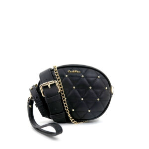 carlorino bag 0304656D 002 08 1 300x300 - Black Gem Encrusted Quilt Waist Pouch