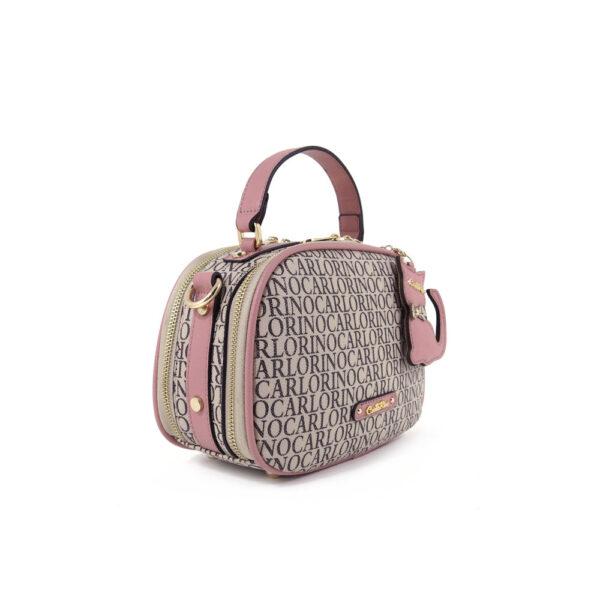carlorino bag 0304679E 003 24 3 - Kitty Charmed Zip-around Top Handle