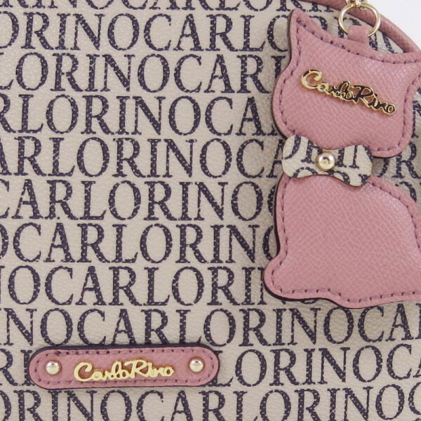 carlorino bag 0304679E 003 24 5 - Kitty Charmed Zip-around Top Handle