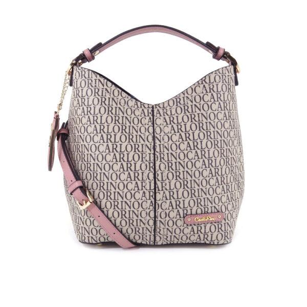 carlorino bag 0304679E 004 24 1 600x600 - Kitty Charmed Top Handle Bucket Bag