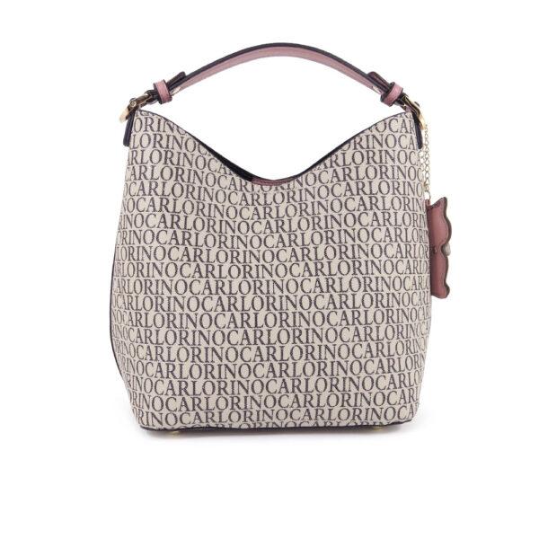 carlorino bag 0304679E 004 24 2 600x600 - Kitty Charmed Top Handle Bucket Bag