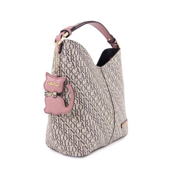 carlorino bag 0304679E 004 24 3 600x600 - Kitty Charmed Top Handle Bucket Bag