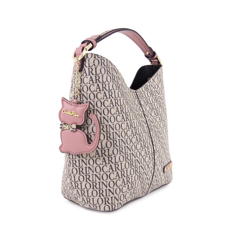 carlorino bag 0304679E 004 24 3 - Kitty Charmed Top Handle Bucket Bag