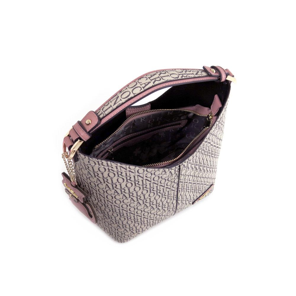 carlorino bag 0304679E 004 24 4 - Kitty Charmed Top Handle Bucket Bag
