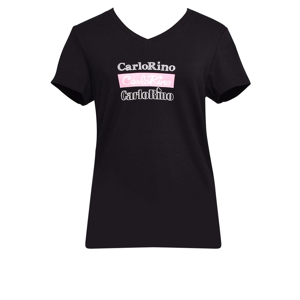 carlorino tshirt 31T001 F001 08 1 - V-neck CR Print Tee