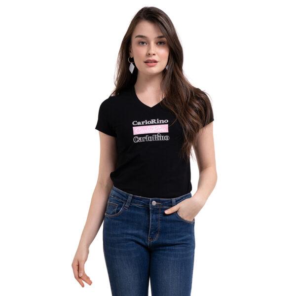 carlorino tshirt 31T001 F001 08 4 - V-neck CR Print Tee